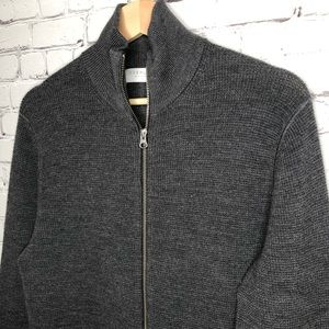 Everlane Gray Full Zip Sweater Medium